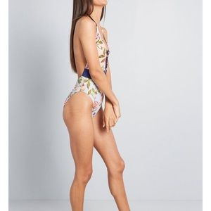 Backless floral one piece